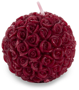 Red Rose Ball Candle in Gift Box