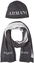 Armani Jeans Men's Wool Blend Hat and Scarf