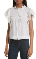Rebecca Taylor Women's Nouveau Eyelet Cotton Top