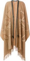 Loewe long fringed blanket coat