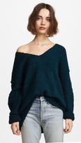 Free People Lofty V Neck Sweater