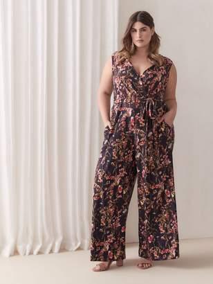 Rachel Roy Wrap Front Floral Jumpsuit