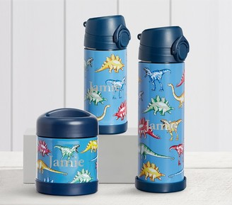 Pottery Barn Kids Mackenzie Blue Multi Dinos Hot & Cold Container