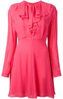 Giamba ruffle collar mini dress - women - Polyester/Viscose - 44