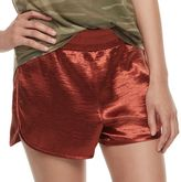 Fire Juniors' Shiny Satin Shorts