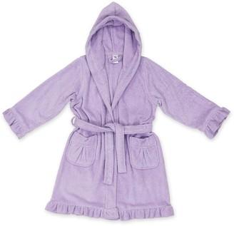 Linum Home Textiles Kids Terry Ruffled Hooded Bathrobe