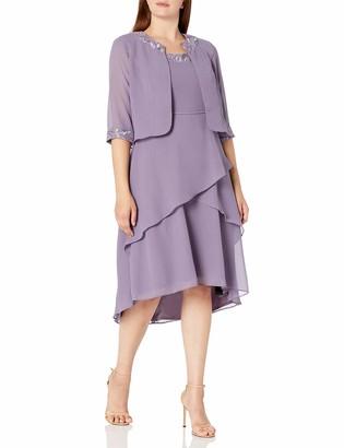Le Bos Women's Beaded Neckline Jacket Dress
