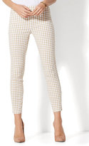 New York & Co. 7th Avenue Pant - Pull-On Ankle - Tan Gingham