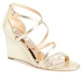 Badgley Mischka Women's Bonanza Strappy Wedge Sandal