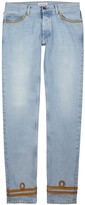 Palm Angels Light Blue Slim-leg Jeans
