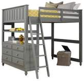 Hillsdale Kids and Teen Lake House Full Loft Bed in Stone