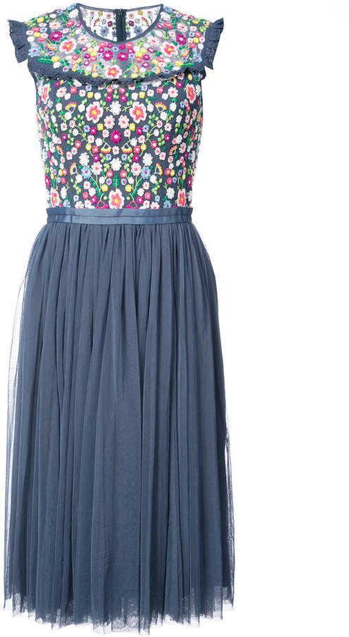 Needle & Thread floral flared dress