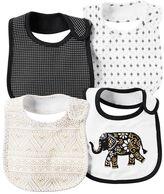 Carter's Baby Girl 4-pk. Mosaic, Elephant & Tile Bibs