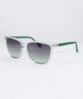 Calvin Klein Mint & Gray Gradient Square Sunglasses - Women