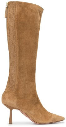 Aquazzura Suede Point-Toe Boots