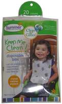 Summer Infant Summer Infant, Clean & Green, Disposable Bibs, 20 Count ( Multi-Pack)