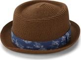Ben Sherman Men's Braided Straw Pork Pie Hat