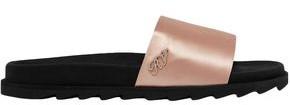 Roger Vivier Crystal-embellished Satin Slides
