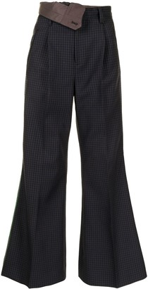Kolor Flared Foldover-Waist Trousers