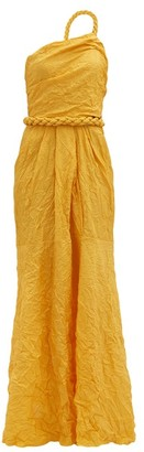 Johanna Ortiz Le Carolina One-shoulder Silk-blend Taffeta Dress - Yellow