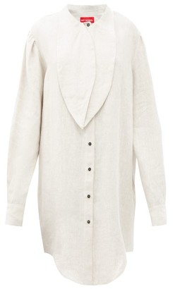 Art School - Artist Oversized Linen Shirt - Beige
