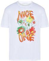 Stella McCartney white nice one print t-shirt