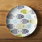 "Crate & Barrel Fish 10.5"" Melamine Dinner Plate"