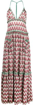 Missoni Abstract Knitted Maxi Dress