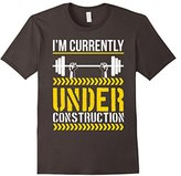 Men's I'm Currently Under Construction Funny Fitness Gym Shirt Large