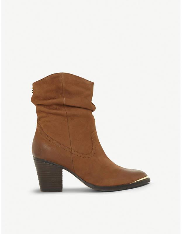 5523af7123d Olya ruched leather ankle boots