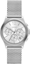 DKNY Parsons Stainless-Steel Silver Mesh Chrono Watch