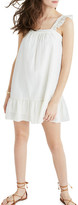 Madewell Metallic Stripe Ruffle Dress
