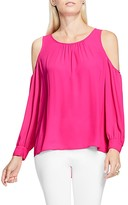 Vince Camuto Shirred Cold Shoulder Blouse - 100% Bloomingdale's Exclusive