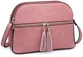 Dasein Women's Handbags Pink - Pink Tassel-Accent Crossbody Bag