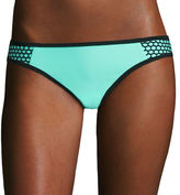 Arizona Colorblock Mesh Mint Hipster Swim Bottoms - Juniors