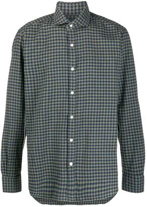 Barba check-print shirt