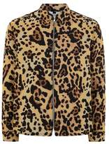 Topman Yellow and Black Leopard Print Overshirt