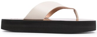 ATP ATELIER Platform Sole Leather Flip-Flops