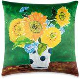 Kate Spade Sunflower Vase Throw Pillow in Yellow/Green