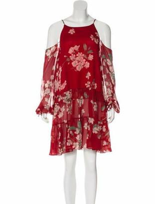 Magda Butrym Cold-Shoulder Silk Dress Red