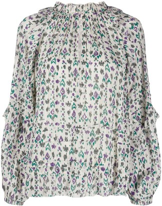 Etoile Isabel Marant Fidaje geometric print blouse