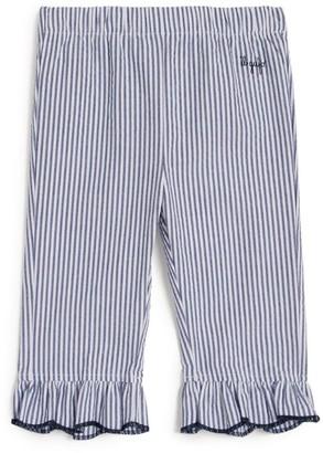 Il Gufo Contrast-Hem Striped Trousers