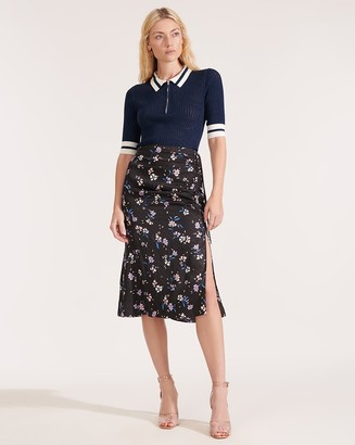 Veronica Beard Vanity Windswept-Floral Skirt