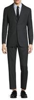 Burberry Millbank Wool Solid Notch Lapel Suit