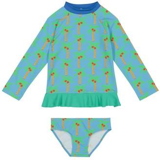 Stella McCartney Kids Printed rashguard swim set