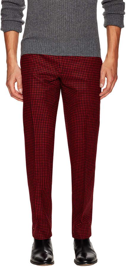 Christian Dior Checkered Wool Trouser