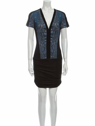 Barbara Bui V-Neck Mini Dress w/ Tags Blue