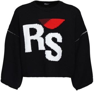 Raf Simons Over Rs Jacquard Wool Sweater