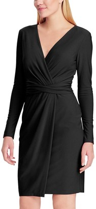 Chaps Women's Long Sleeve Black Dress