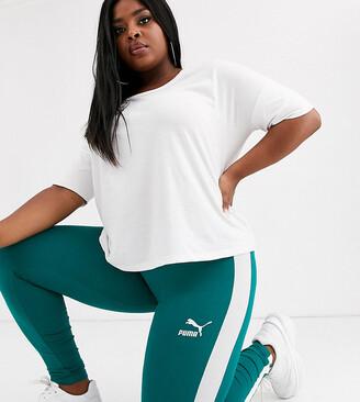Puma Plus Exclusive Classics teal green leggings